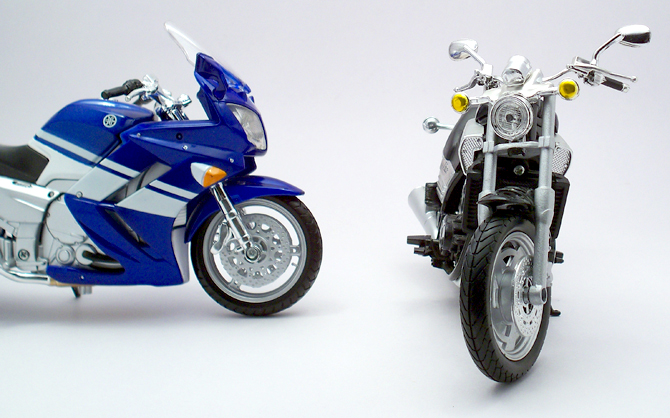 Yamaha V-Max vs FJR1300 – NewRay/Maisto – xDiecast