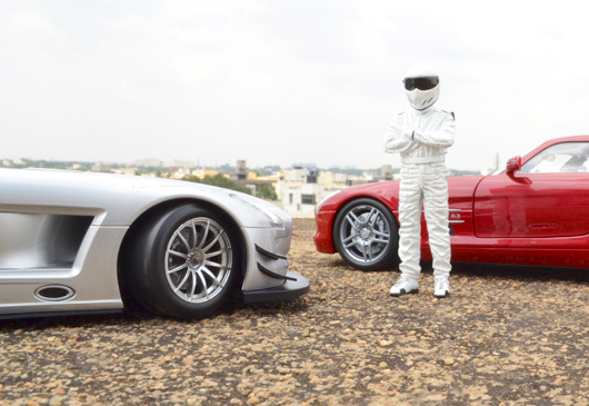 Stig's Dayout with SLS AMG & its GT3 Sibling