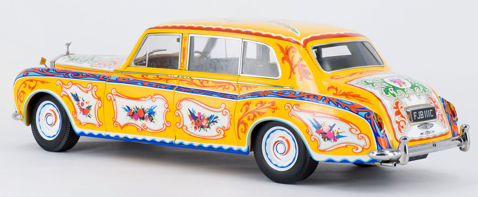 paragon releases 1:18 john lennon's psychedelic rolls-royce – xdiecast