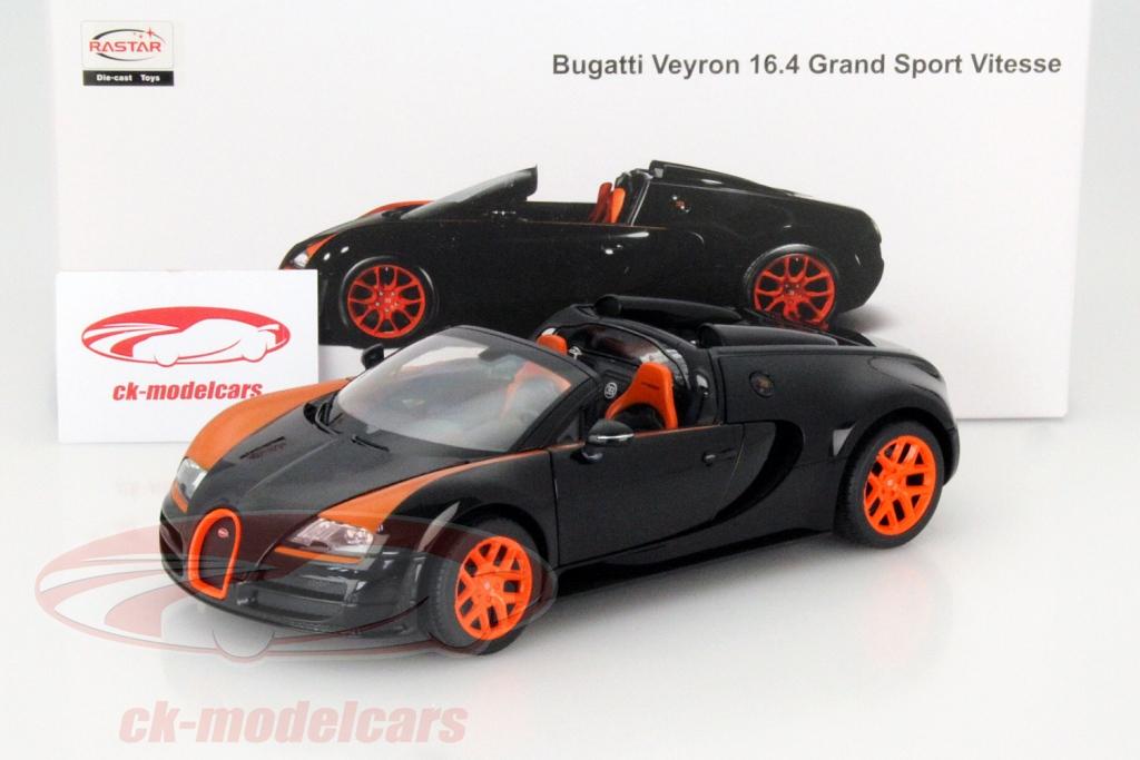 Rastar 1:18 Bugatti Veyron Grand Sport Vitesse - Black Orange