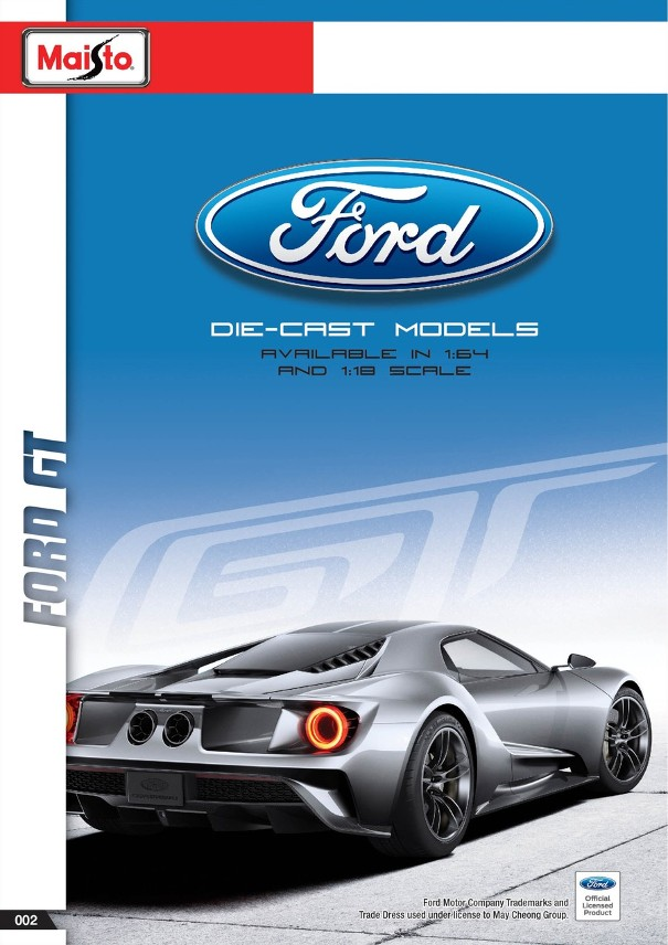 Maisto to release 1:18 Ford GT 2017 in Exclusive and Special Edition ...