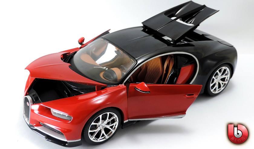 1:18 Bburago 2017 Bugatti Chiron - Red - Features