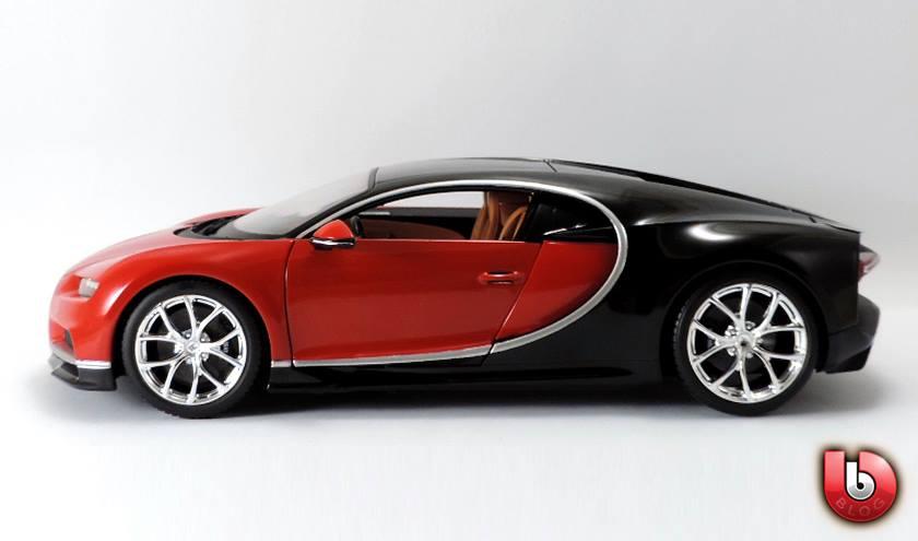 1:18 Bburago 2017 Bugatti Chiron - Red - Profile
