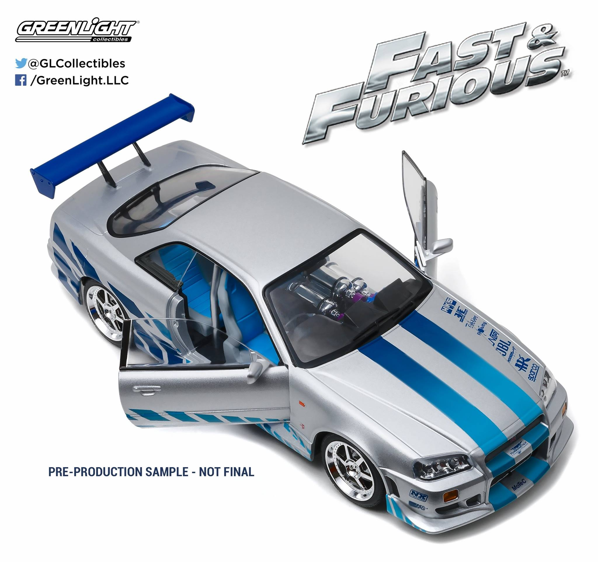Greenlight Collectibles 2 Fast Furious Skyline GT R R34