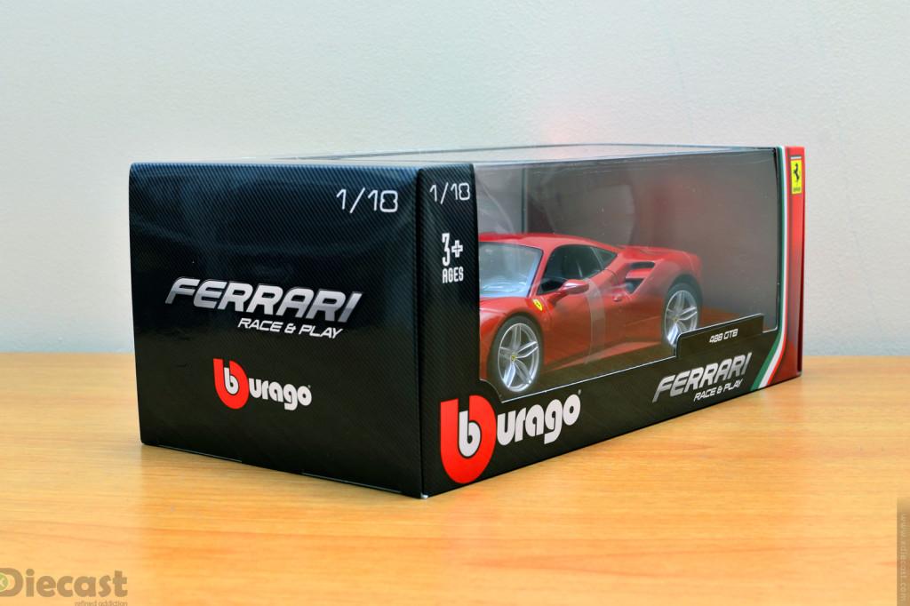 Bburago 1:18 Ferrari 488 GTB - Box