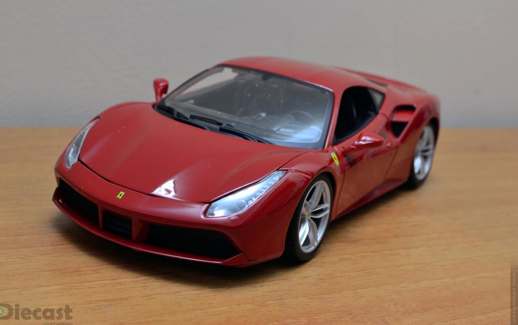 Bburago 1:18 Ferrari 488 GTB - Front 3/4