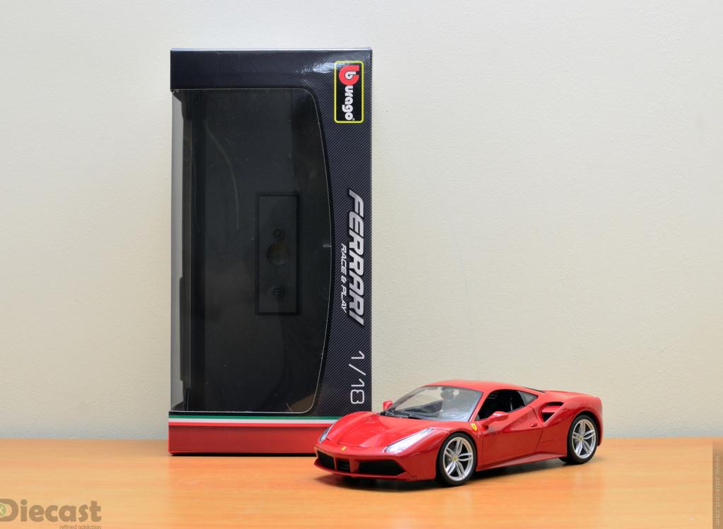 Bburago 1:18 Ferrari 488 GTB – Unboxed