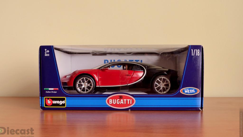 Bburago 1:18 Bugatti Chiron - Box