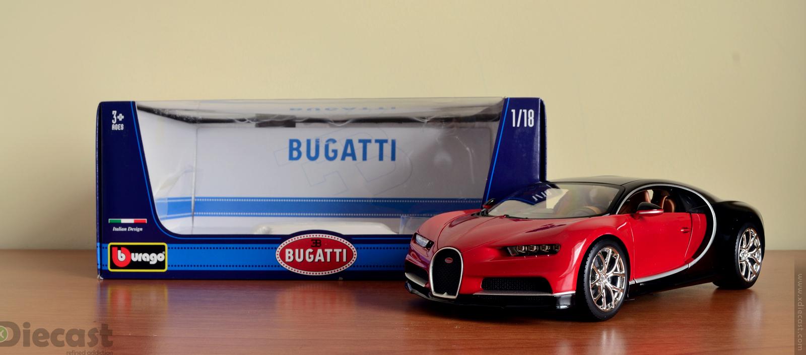 Bburago 1:18 Bugatti Chiron - Unbox