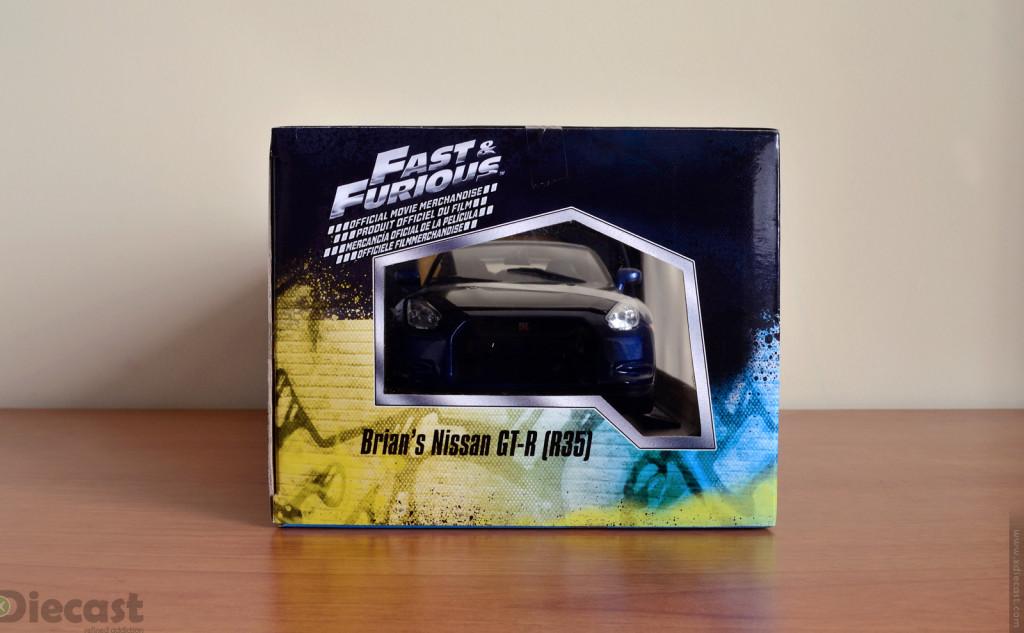 Jada Toys 1:18 Brian's Nissan GT-R R35 - Box