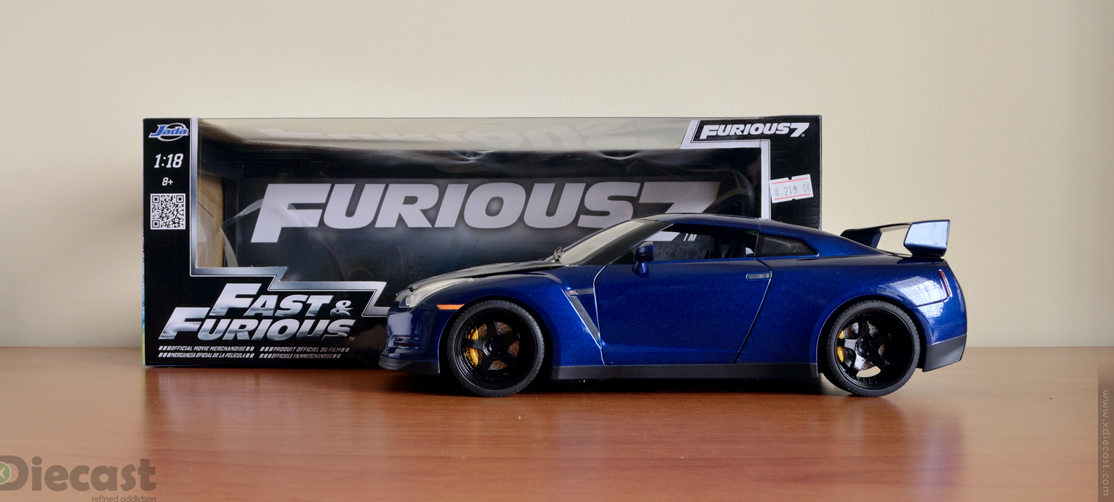 Jada Toys 1:18 Brian's Nissan GT-R R35 - Unboxed