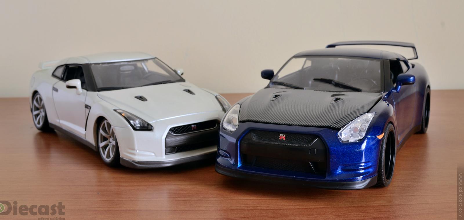 Jada Toys Brian's Nissan GT-R R35 vs Bburago Nissan GT-R