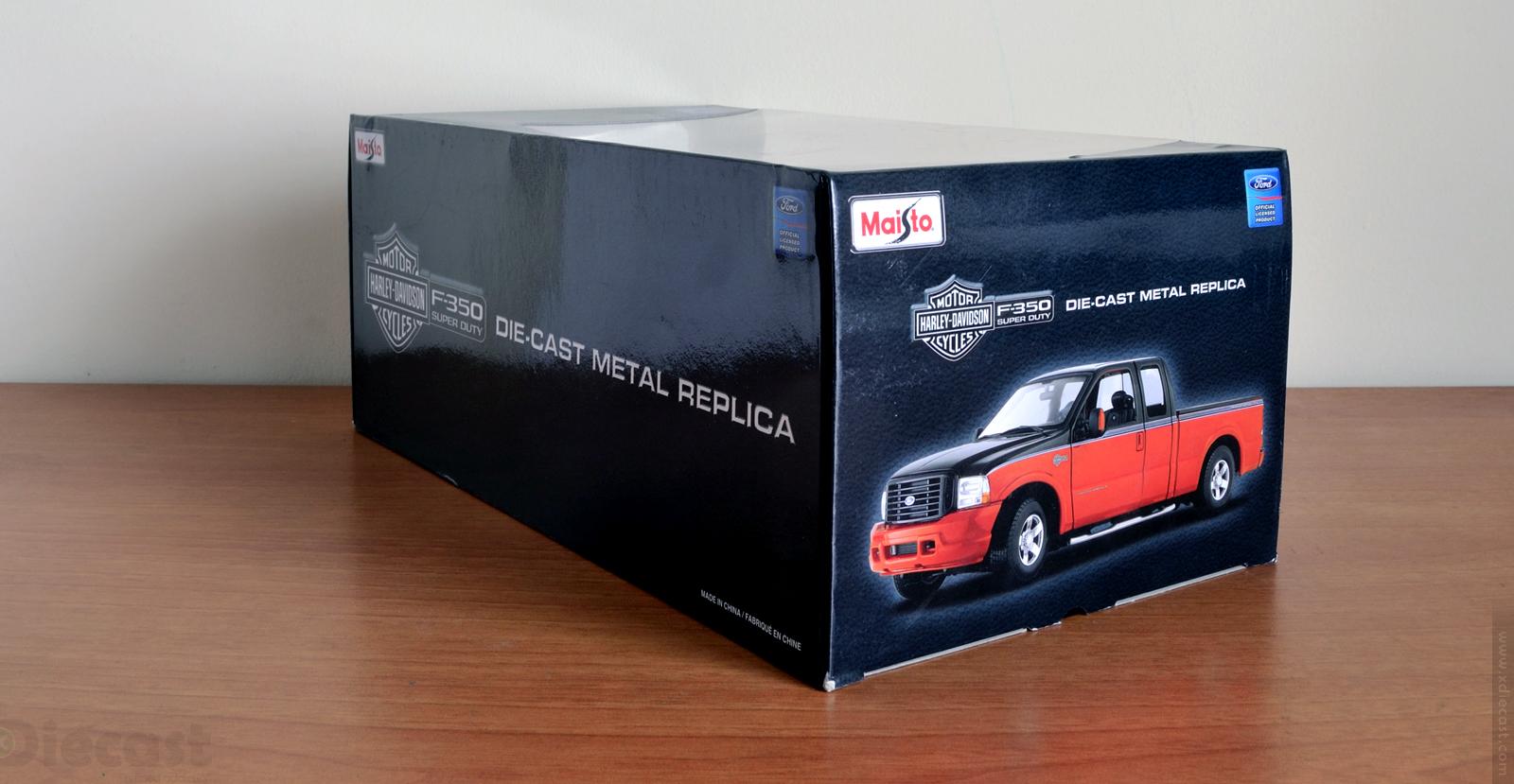 Maisto 1:18 Ford F350 Harley Davidson - Box