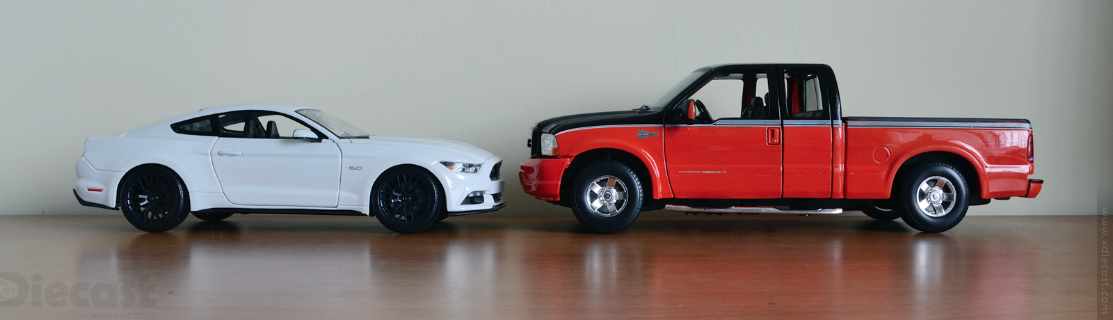 Size Comparison Ford Mustang GT500 vs Ford F350 HD