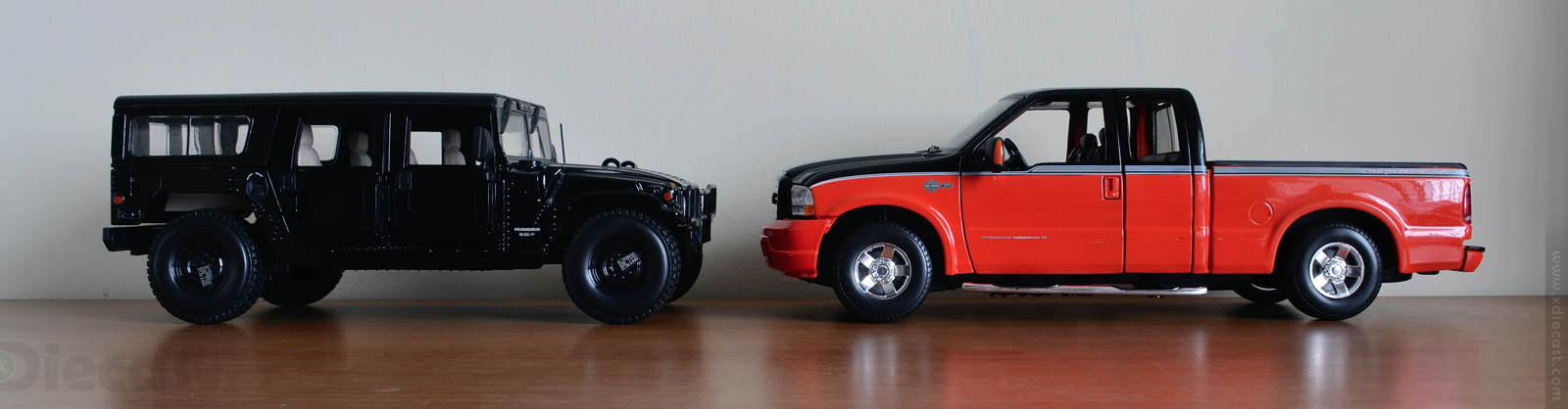 Size Comparison Hummer H1 vs Ford F350 HD