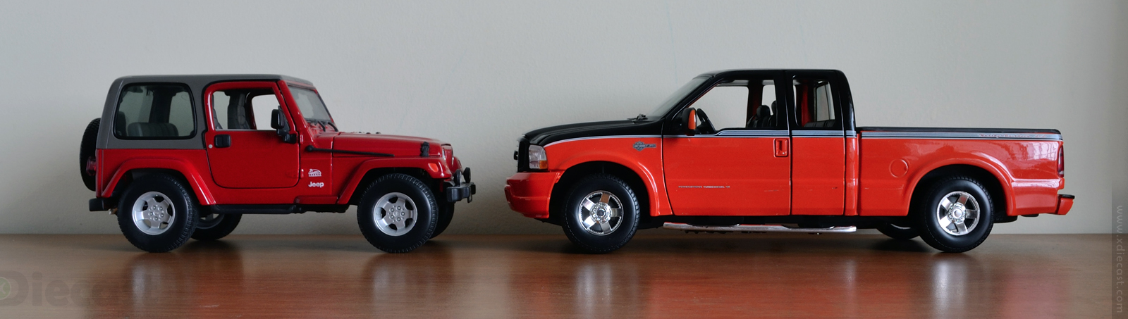 Size Comparison Jeep Wrangler vs Ford F350 HD