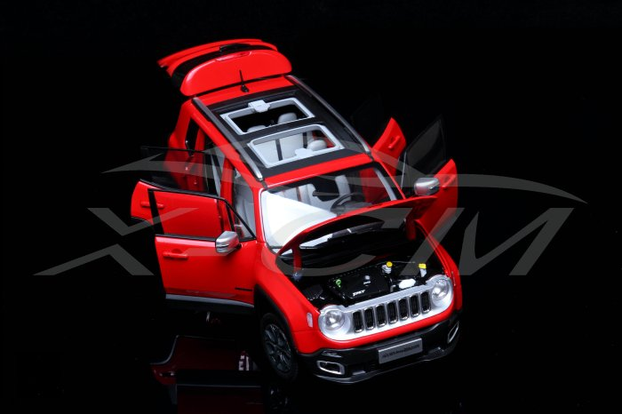 1:18 Jeep Renegade Red - Profile