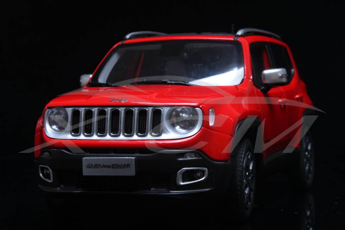 1:18 Jeep Renegade Red - Front