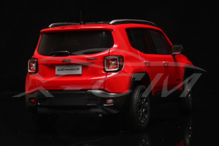 1:18 Jeep Renegade Red - Rear