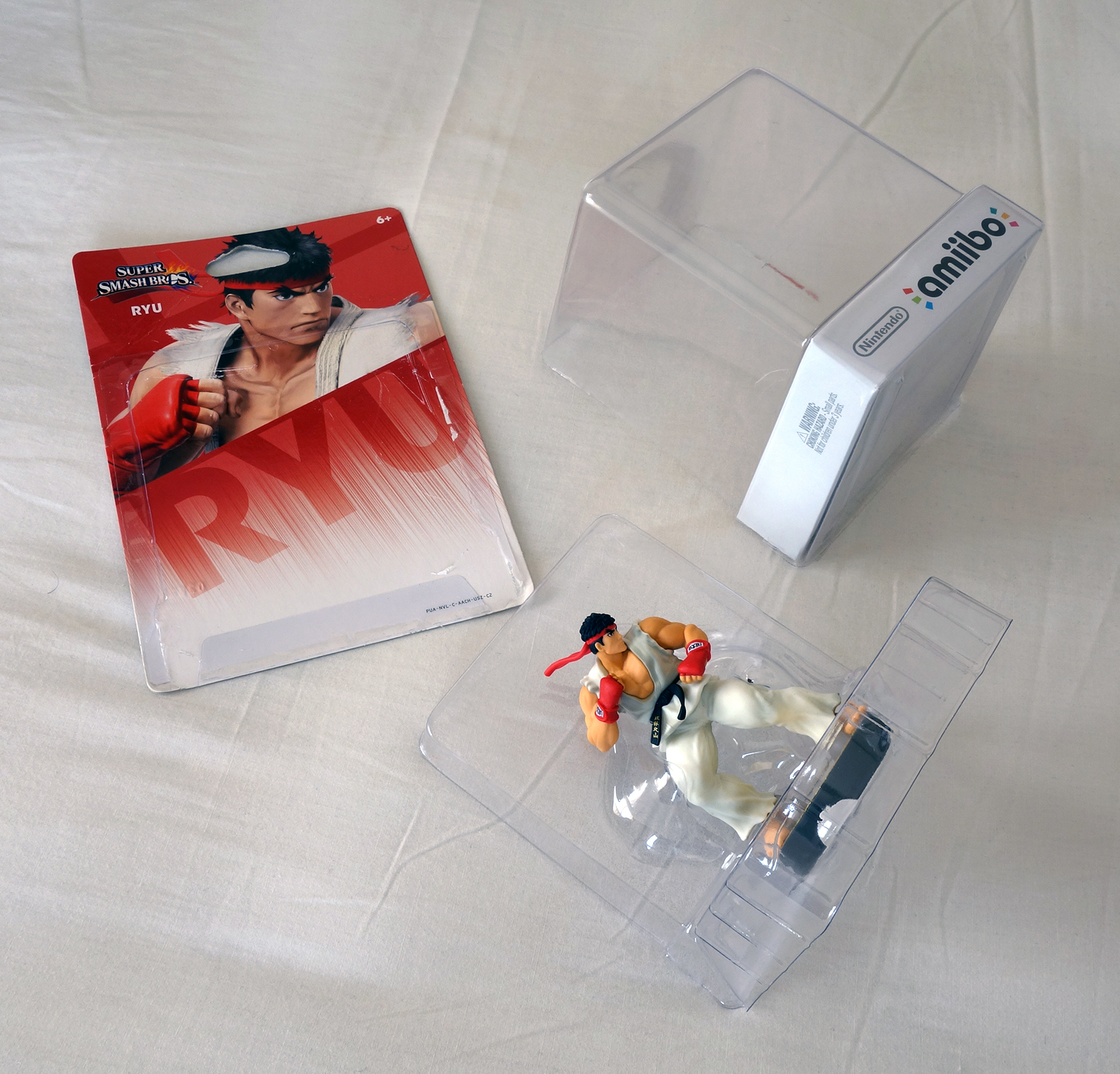 RYU Figurine Nintendo Amiibo Super Smash Bros - Unboxed
