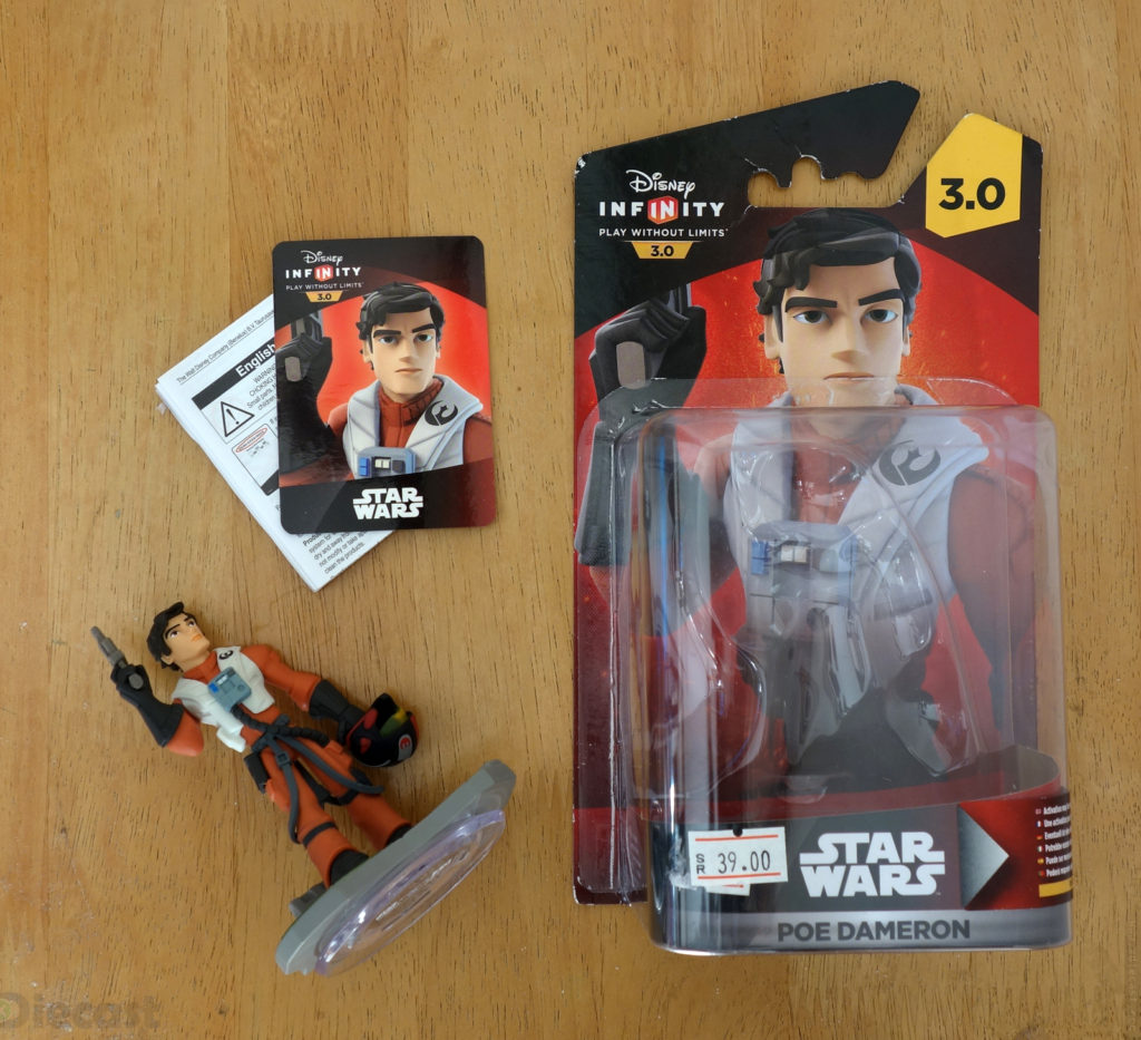 Disney Infinity 3.0 Starwars Poe Dameron Figurine - Package Content