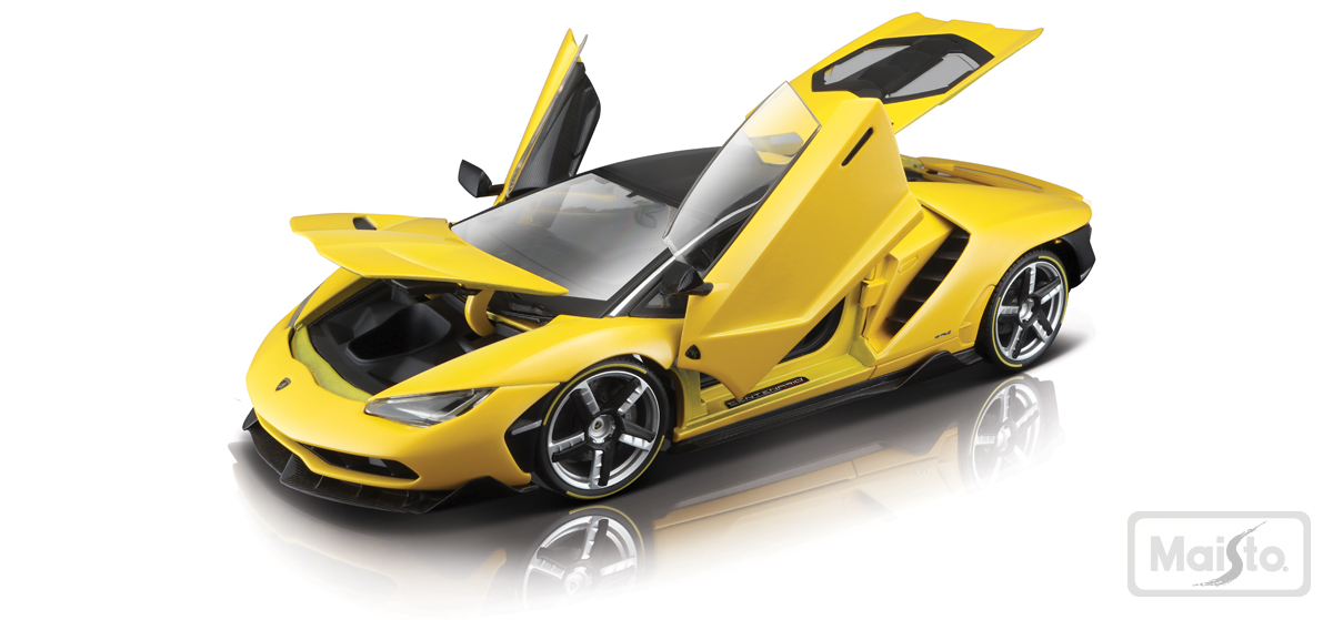 Maisto Exclusive Series Lamborghini Centenario - Yellow - Front View