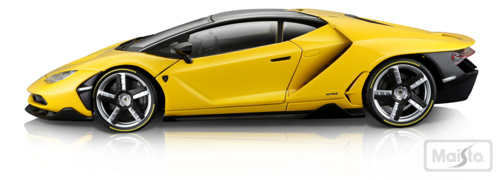 Maisto Exclusive Series Lamborghini Centenario - Yellow - Profile View