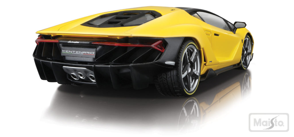 Maisto Exclusive Series Lamborghini Centenario - Yellow - Rear View