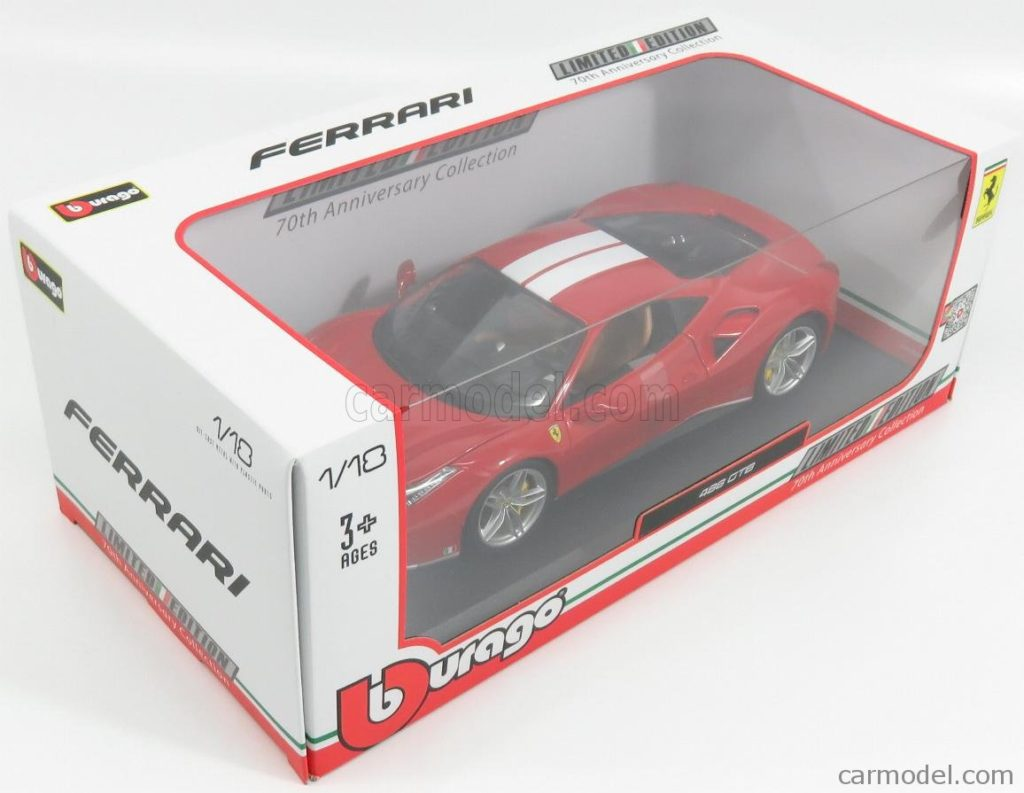 Bburago 1:18 Ferrari 488GTB 70th Anniversary The Schumacher - Box