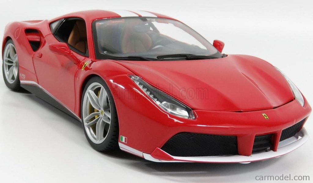 Bburago 1:18 Ferrari 488GTB 70th Anniversary The Schumacher - Front