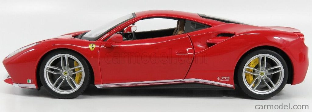 Bburago 1:18 Ferrari 488GTB 70th Anniversary The Schumacher - Profile