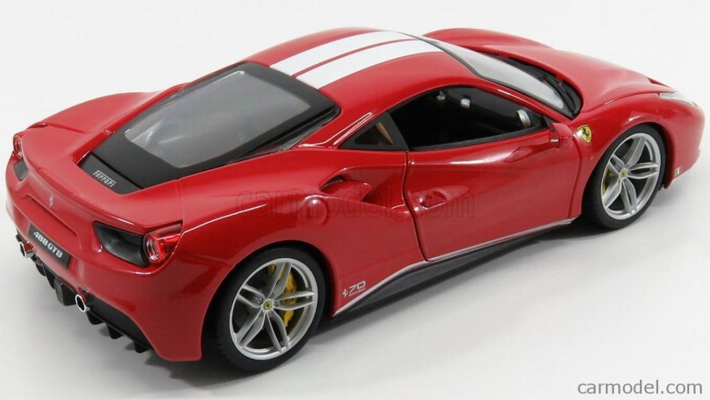Bburago 1:18 Ferrari 488GTB 70th Anniversary The Schumacher - Rear