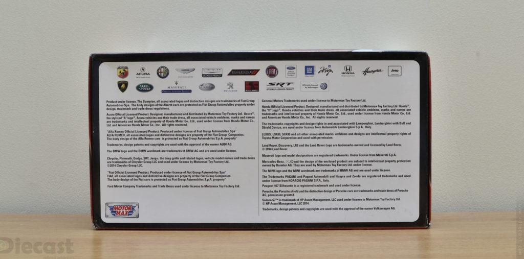 Motormax 1:18 Lamborghini Estoque - Package Info