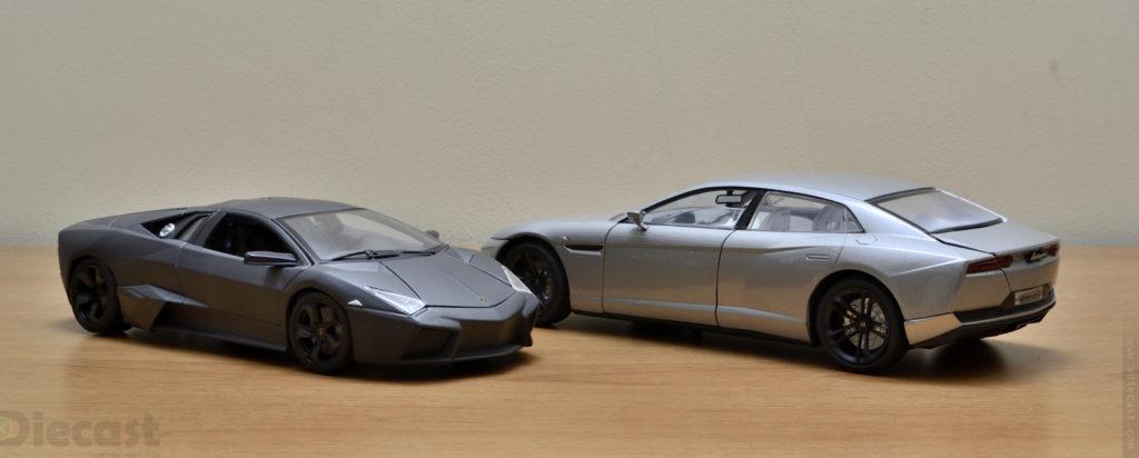 Motormax 1:18 Lamborghini Estoque vs Bburago Lamborghini Reventon