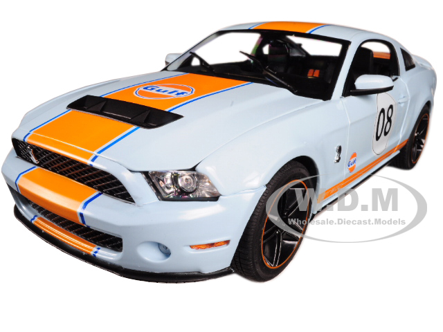 "2012 Ford Mustang Shelby GT500 ""Gulf"" Oil #08 1/18 Diecast Model Car by Greenlight"