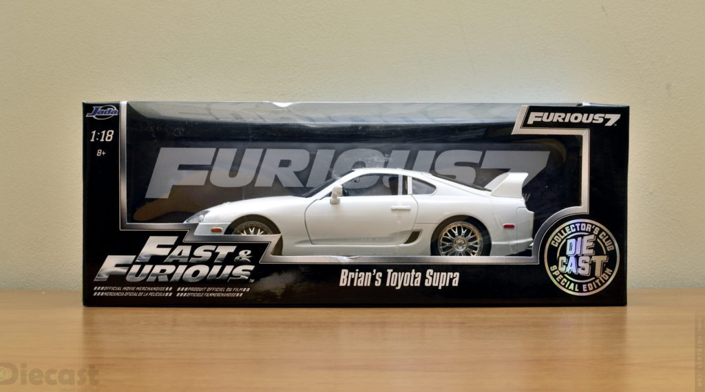 Jada 1:18 Brians Toyota Supra - Box