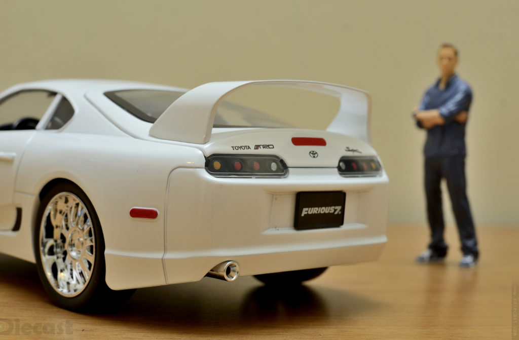 Jada 1:18 Brians Toyota Supra - Rear
