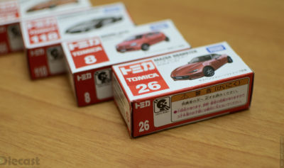 Four Tomica Mini Diecast Models – Unboxed