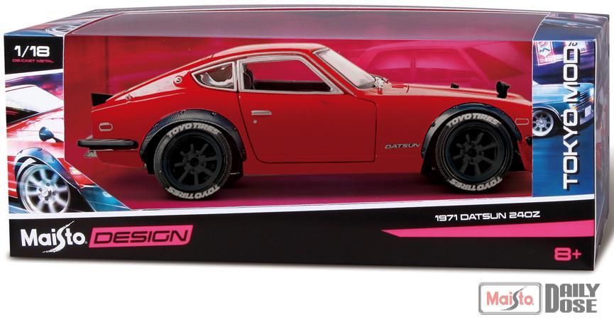 Maisto 1971 Datsun 240z - Tokyo Mods - Box
