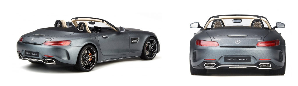 GT Spirit Mercedes Benz AMG GT C - Designo  Magno Selenite Grey - Rear