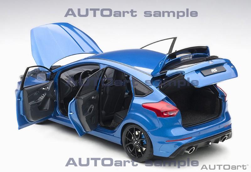 AUTOart 1:18 Ford Focus RS Nitrous Blue - Doors