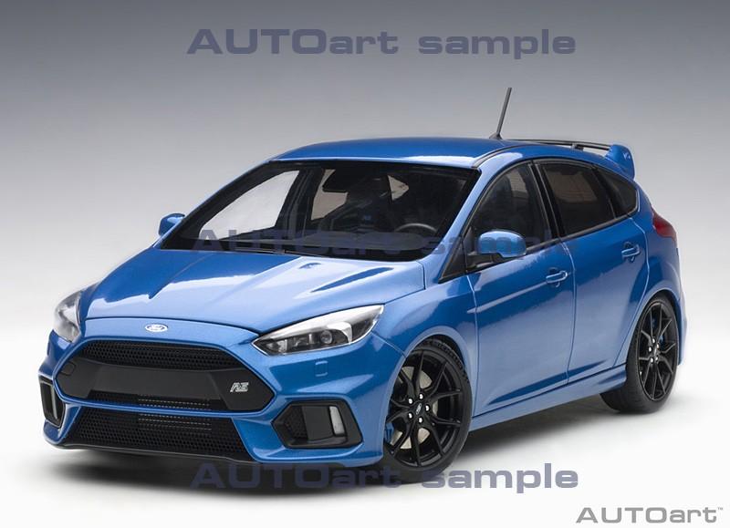 AUTOart 1:18 Ford Focus RS Nitrous Blue - Front View
