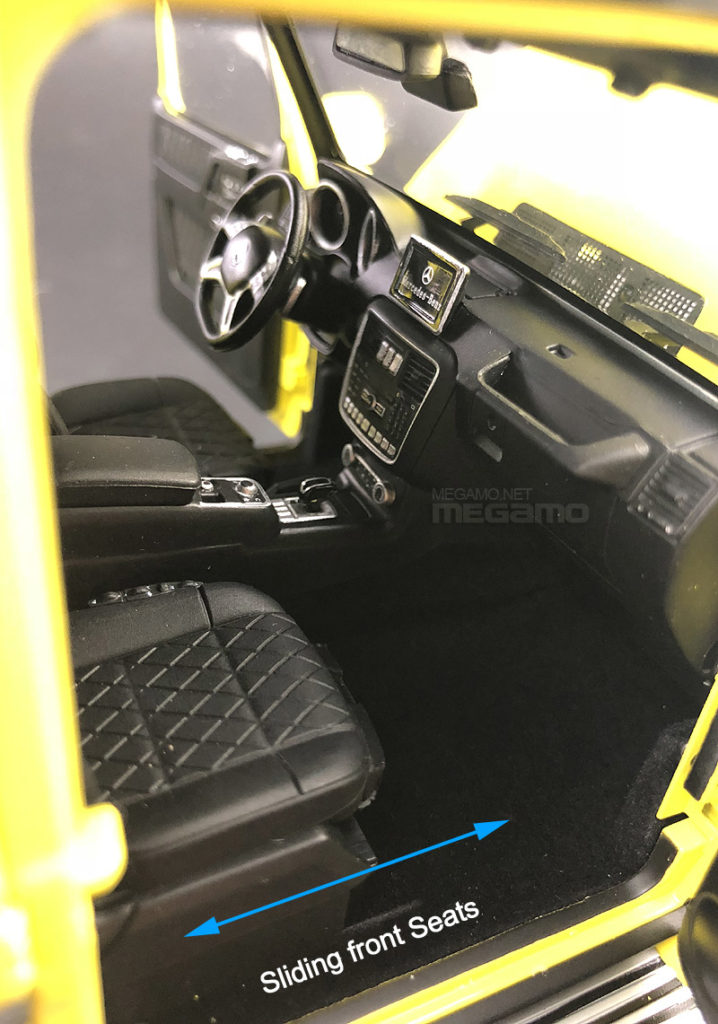 Almost Real 1:18 Mercedes Benz G500 4x4 Squared - Interior