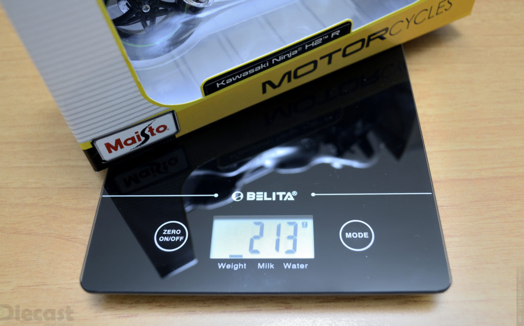 Maisto 1:12 Kawasaki Ninja H2R - Weight
