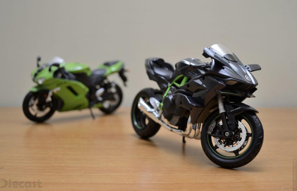 Maisto 1:12 Kawasaki Ninja H2R vs Kawasaki Ninja ZX6R