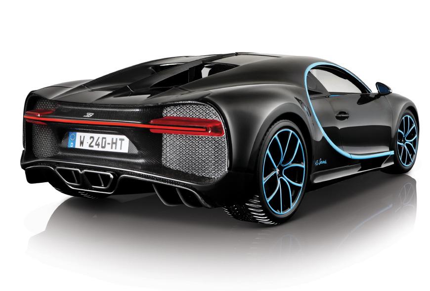 1:18 Bburago Bugatti Chiron 42 Series - Rear