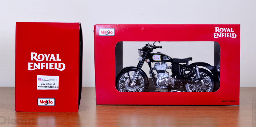 Maisto 1:12 Royal Enfield  Classic 500 Black - Package
