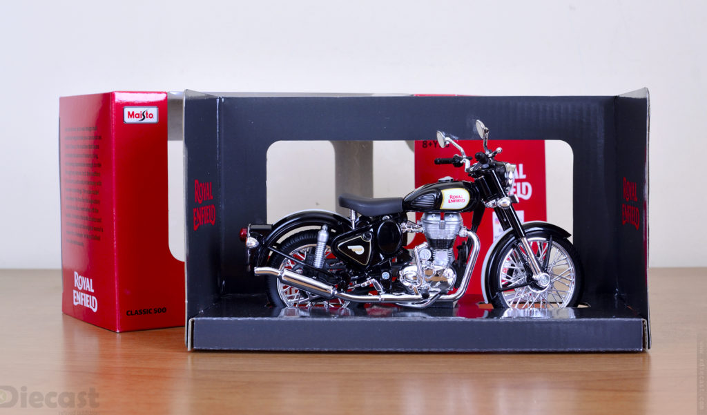 Maisto 1:12 Royal Enfield  Classic 500 Black - Unboxing