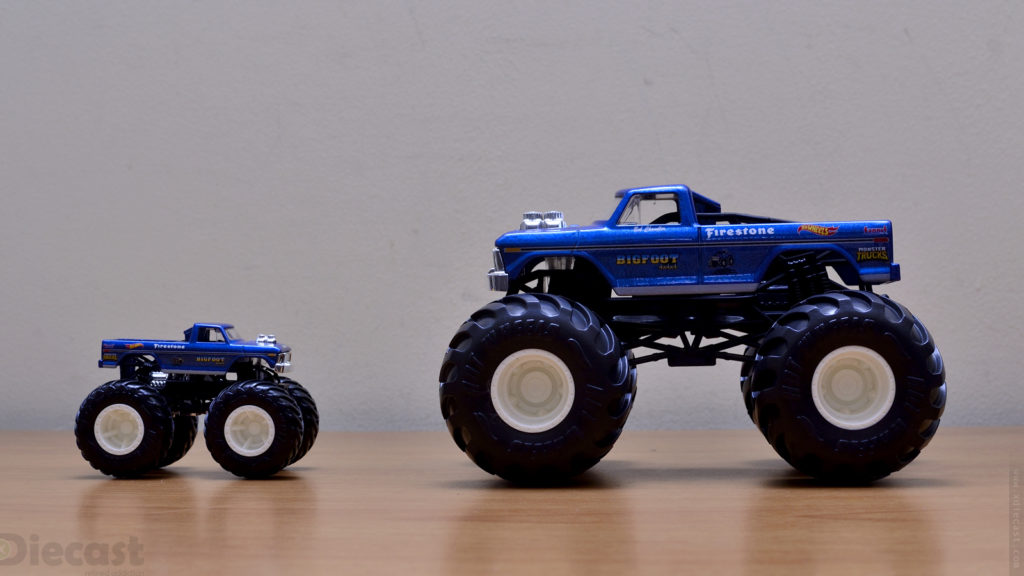 Hot Wheels Bigfoot Monster Truck - Size Comparison