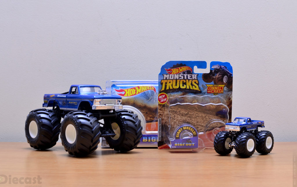 Hotwheels 1:24 and 1:64 Bigfoot Monster Truck – Unboxed